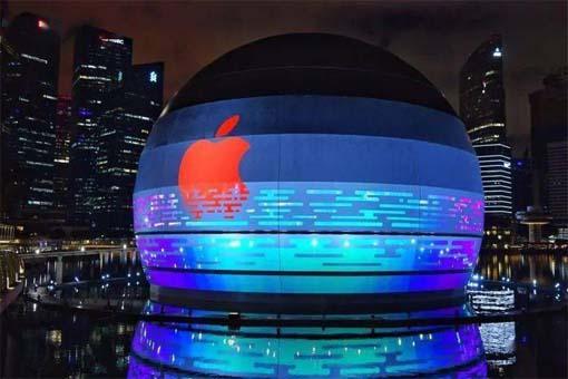 苹果展厅新加坡滨海湾金沙旗舰店