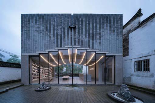 桥廊:上海三联书店·黄山桃源店 / 来建筑设计工作室