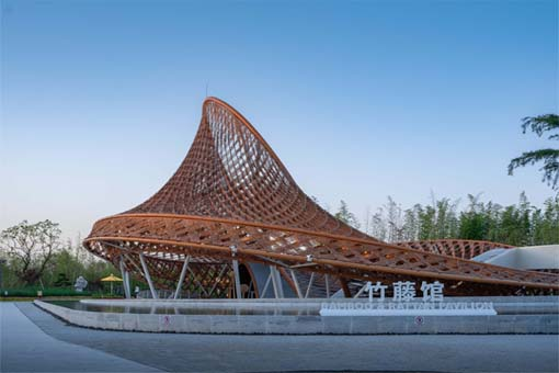 第十届中国花卉博览会竹藤馆:华建集团上海建筑科创中心创作研究中心